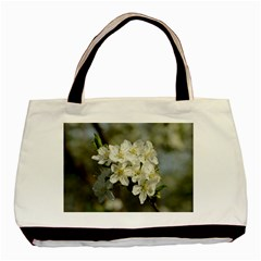 Spring Flowers Twin Sided Black Tote Bag by anstey