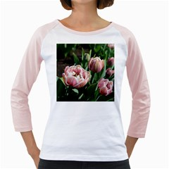 Tulips Women s Long Cap Sleeve T Shirt (white)  by anstey