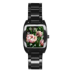 Tulips Stainless Steel Barrel Watch by anstey