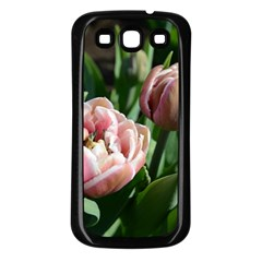 Tulips Samsung Galaxy S3 Back Case (black) by anstey