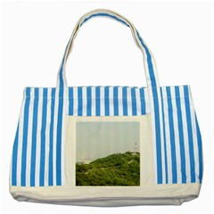 Seoul Blue Striped Tote Bag by anstey
