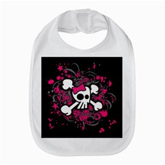 Girly Skull And Crossbones Bib