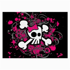 Girly Skull And Crossbones Glasses Cloth (large, Two Sided)