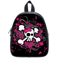 Girly Skull And Crossbones School Bag (small) by ArtistRoseanneJones