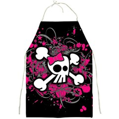 Girly Skull And Crossbones Apron