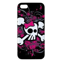 Girly Skull And Crossbones Apple Iphone 5 Premium Hardshell Case by ArtistRoseanneJones