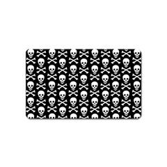 Skull And Crossbones Pattern Magnet (name Card) by ArtistRoseanneJones