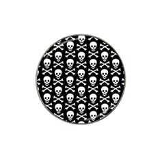 Skull And Crossbones Pattern Golf Ball Marker (for Hat Clip) by ArtistRoseanneJones