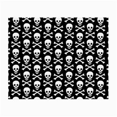 Skull And Crossbones Pattern Glasses Cloth (small, Two Sided) by ArtistRoseanneJones