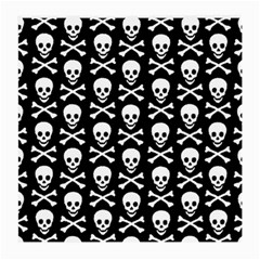 Skull And Crossbones Pattern Glasses Cloth (medium, Two Sided) by ArtistRoseanneJones