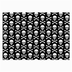 Skull And Crossbones Pattern Glasses Cloth (large, Two Sided) by ArtistRoseanneJones