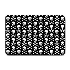 Skull And Crossbones Pattern Small Door Mat by ArtistRoseanneJones