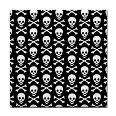 Skull And Crossbones Pattern Face Towel by ArtistRoseanneJones