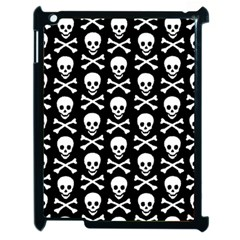Skull And Crossbones Pattern Apple Ipad 2 Case (black) by ArtistRoseanneJones