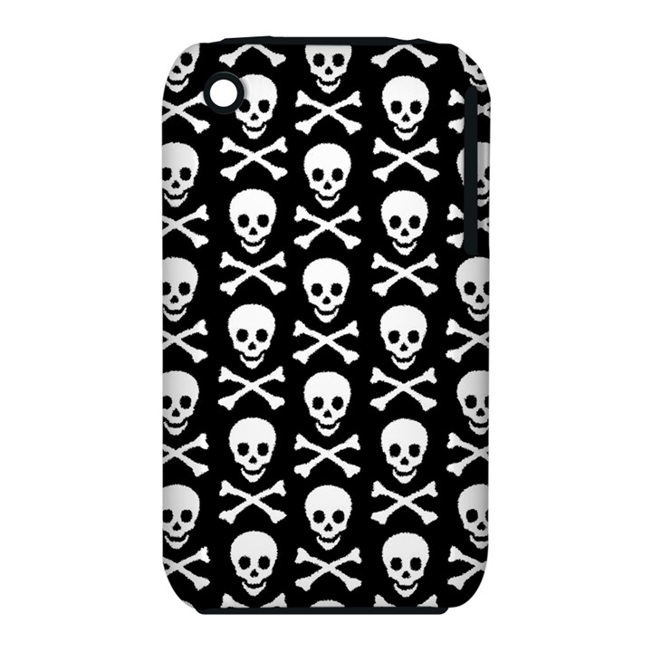 Skull and Crossbones Pattern Apple iPhone 3G/3GS Hardshell Case (PC+Silicone)