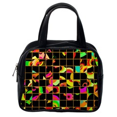 Pieces In Squares Classic Handbag (one Side) by LalyLauraFLM