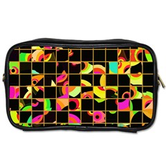 Pieces In Squares Toiletries Bag (two Sides) by LalyLauraFLM