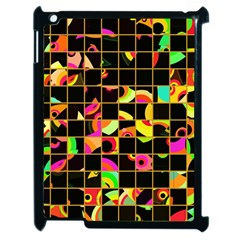 Pieces In Squares Apple Ipad 2 Case (black) by LalyLauraFLM