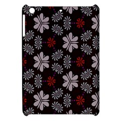 Floral Pattern On A Brown Background Apple Ipad Mini Hardshell Case by LalyLauraFLM