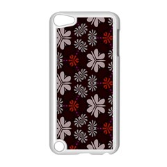 Floral Pattern On A Brown Background Apple Ipod Touch 5 Case (white) by LalyLauraFLM