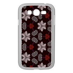 Floral Pattern On A Brown Background Samsung Galaxy Grand Duos I9082 Case (white) by LalyLauraFLM