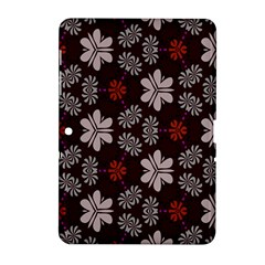 Floral Pattern On A Brown Background Samsung Galaxy Tab 2 (10 1 ) P5100 Hardshell Case  by LalyLauraFLM