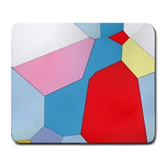 Colorful Pastel Shapes Large Mousepad by LalyLauraFLM