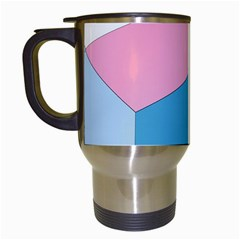 Colorful Pastel Shapes Travel Mug (white) by LalyLauraFLM