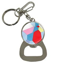 Colorful Pastel Shapes Bottle Opener Key Chain by LalyLauraFLM