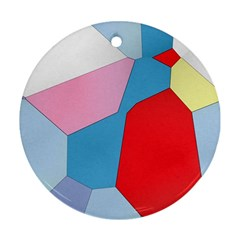 Colorful Pastel Shapes Round Ornament (two Sides)