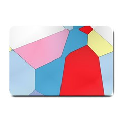Colorful Pastel Shapes Small Doormat by LalyLauraFLM