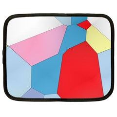 Colorful Pastel Shapes Netbook Case (large)
