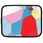 Colorful pastel shapes Netbook Case (Large)	 Front