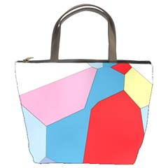 Colorful Pastel Shapes Bucket Bag by LalyLauraFLM