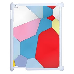 Colorful Pastel Shapes Apple Ipad 2 Case (white) by LalyLauraFLM