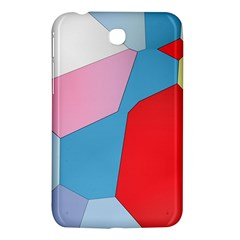 Colorful Pastel Shapes Samsung Galaxy Tab 3 (7 ) P3200 Hardshell Case  by LalyLauraFLM