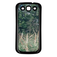 Grass And Trees Nature Pattern Samsung Galaxy S3 Back Case (black) by ansteybeta