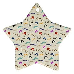 Mustaches Star Ornament by boho