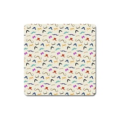 Mustaches Magnet (square) by boho
