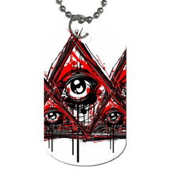 Red White Pyramids Dog Tag (two Sided)