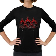 Red White Pyramids Women s Long Sleeve T Shirt (dark Colored) by teeship