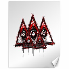 Red White Pyramids Canvas 12  X 16  (unframed)