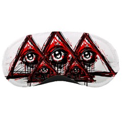Red White Pyramids Sleeping Mask by teeship