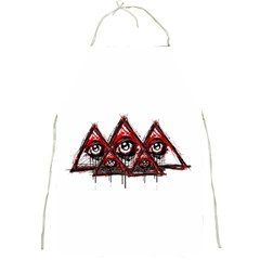 Red White Pyramids Apron by teeship
