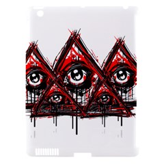 Red White Pyramids Apple Ipad 3/4 Hardshell Case (compatible With Smart Cover) by teeship