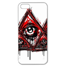 Red White Pyramids Apple Seamless Iphone 5 Case (clear)