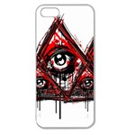 Red White pyramids Apple Seamless iPhone 5 Case (Clear) Front