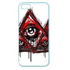 Red White Pyramids Apple Seamless Iphone 5 Case (color) by teeship