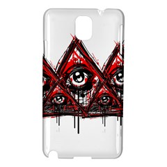 Red White Pyramids Samsung Galaxy Note 3 N9005 Hardshell Case by teeship