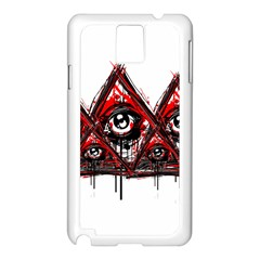Red White Pyramids Samsung Galaxy Note 3 N9005 Case (white) by teeship